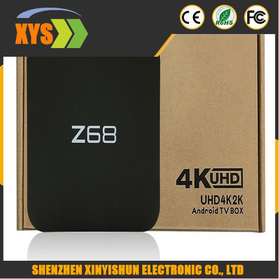 Z68 RK3368 TV Boxes Octa Core Android 5.1 Dual Band Bluetooth 2GB 16GB Set-top Box Smart Media Player Gyroscope T2 keyboard
