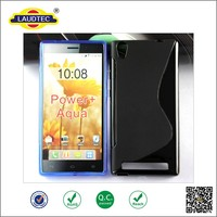 Good quality S Line soft TPU case for Intex Aqua Power