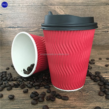 custom logo printed 16oz paper coffee cup with lid