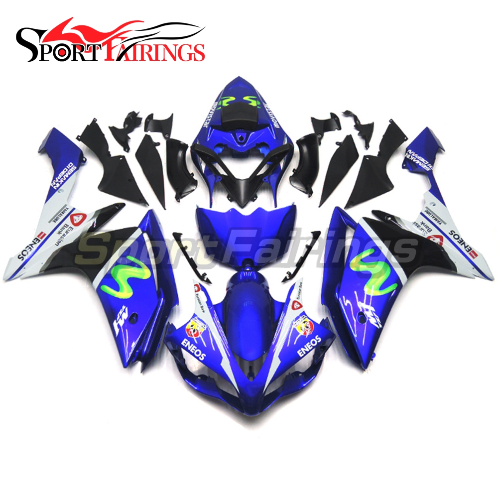 <strong>Fairings</strong> For Yamaha YZF <strong>R1</strong> 07 <strong>08</strong> ABS Plastic Injection Eneos Movistar Blue Motorcycle Body Kit