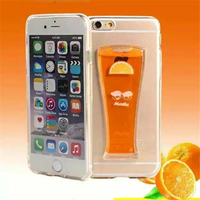 Unique Water Liquid Coco Cup Cell Phone Case For iPhone 6 6plus