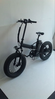 "36V 500W 20""*4.0 Tyre suspension fork Snow electric Folding bike with Mudguards"