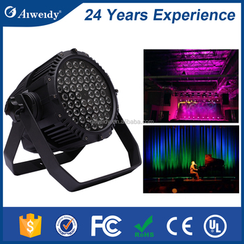 2017 Pro china manufacture 54x3w 3w rgbw par 64 led par dj lights