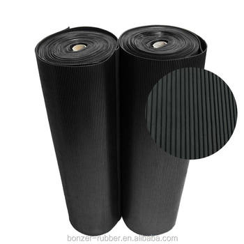 Corrugated vulcanized anti slip flooring rubber sheets/mats
