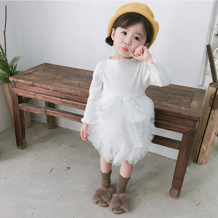 2018 cheap cotton pure color comfortable breathable baby girls clothing with good quality
