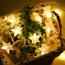 christmas LED star string lights for decoration