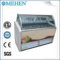 Cheap Ice Cream Display Showcase with High quality (Free Customized Logo Design)