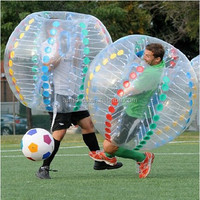 New popular inflatable soccer bubble football with colorful dots