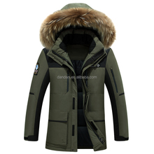 2016 wholesale fashion outdoor climbing men fur hoodie parka winter jacket
