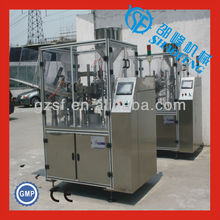 Automatic soft tube filling and sealing machine for toothpaste
