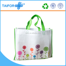 laminated folding PP printing plastic shopping bag with multi color