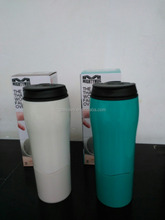 550ml non-spill travel car mug,Won't fall suction coffee tumbler with string,Plastic travel drinking non-spill suction mug