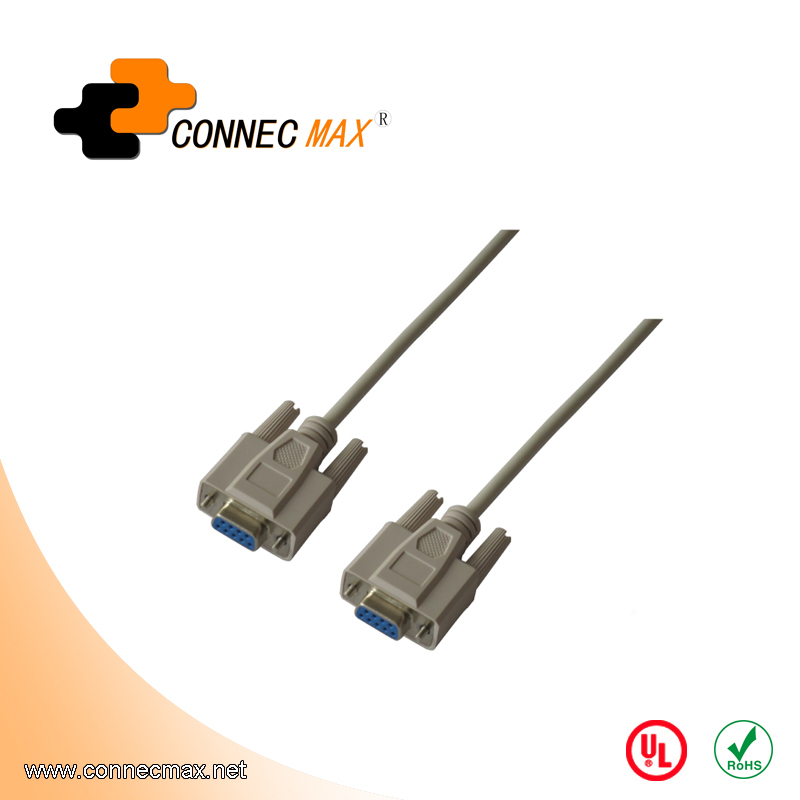 DB 9 Pin Female - Female RS232 Serial Cable - Straight
