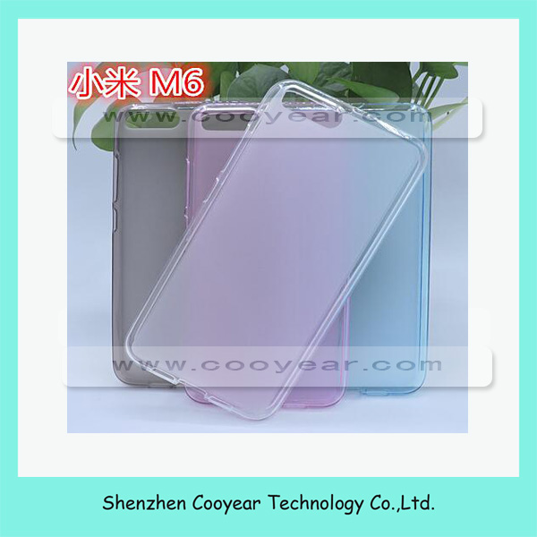 2017 new for Xiaomi mi 6 case Silicone TPU covers with different colors
