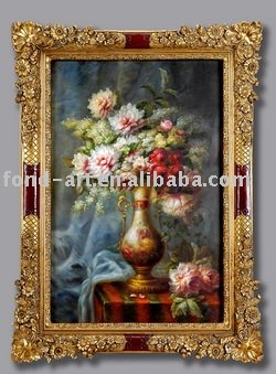 055 Canvas Framed Oil Painting