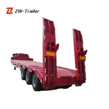 80Ton Lowboy Trailer Trucks For Large Or Non Dismantled Objects' Transport