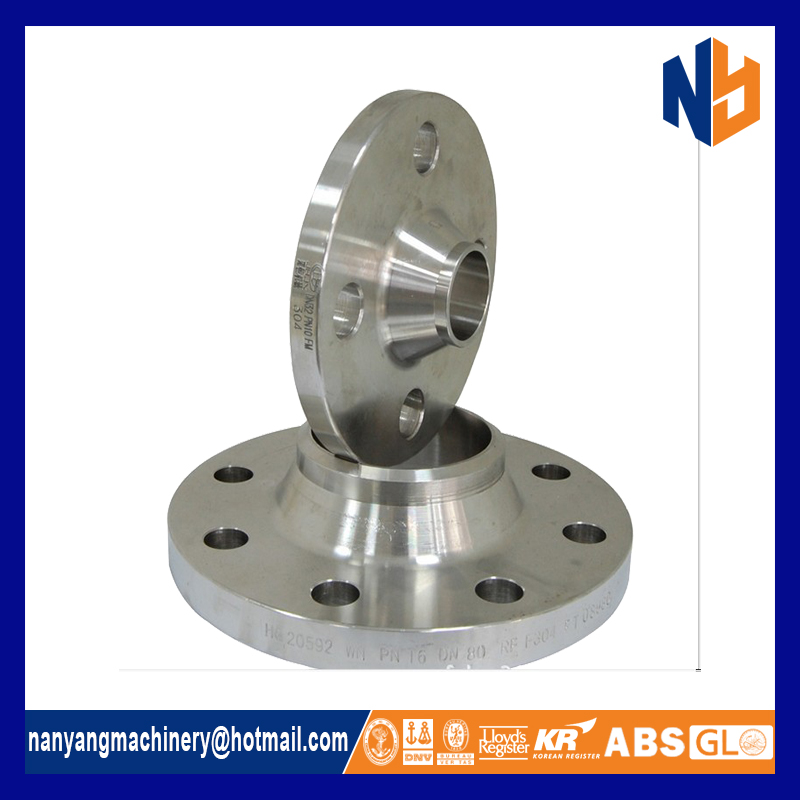 Stainless steel ANSI B16.5 class 150 weld neck flange
