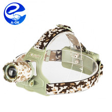 10W 1000lumens CR EE XM-L2 T6 rechargeable high power zoom headlamp