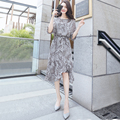 New arrival chiffon fashion parsely print style women dress