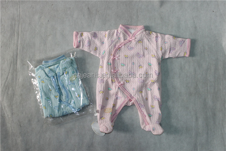 GZY factory overstocks cheap qualified organic cotton baby rompers wholesale baby clothes