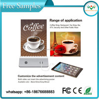 2016 Free sample Bar/restaurant/ coffee shop menu stand power bank 10000mah with charging station