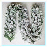 flocked snowy artificial christmas garland,China suppliers, wholesale christmas garland