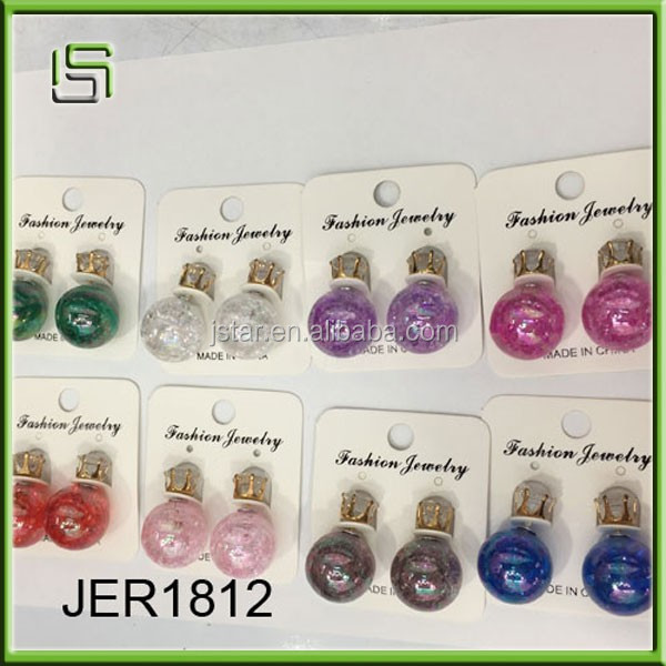 Hot-selling fashion girls stud acrylic earrings