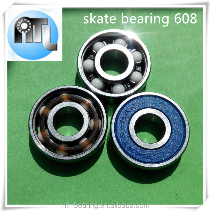 8x22x7mm 608 mixed ceramic ball bearing for speed inline skate wheel