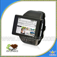 Single sim Android 4.0 MTK6515 Single-core android smart watch phone