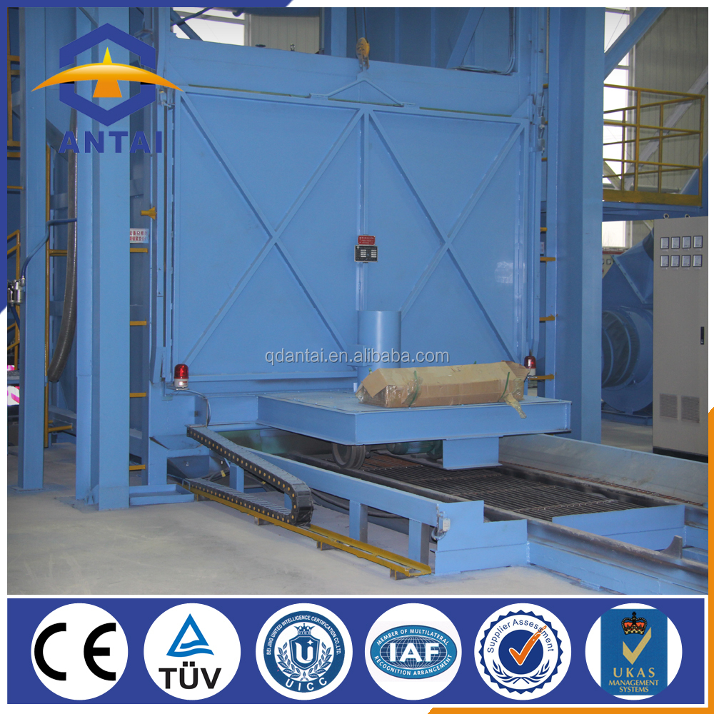 rotary table shot blast cleaning machine for foundry industry
