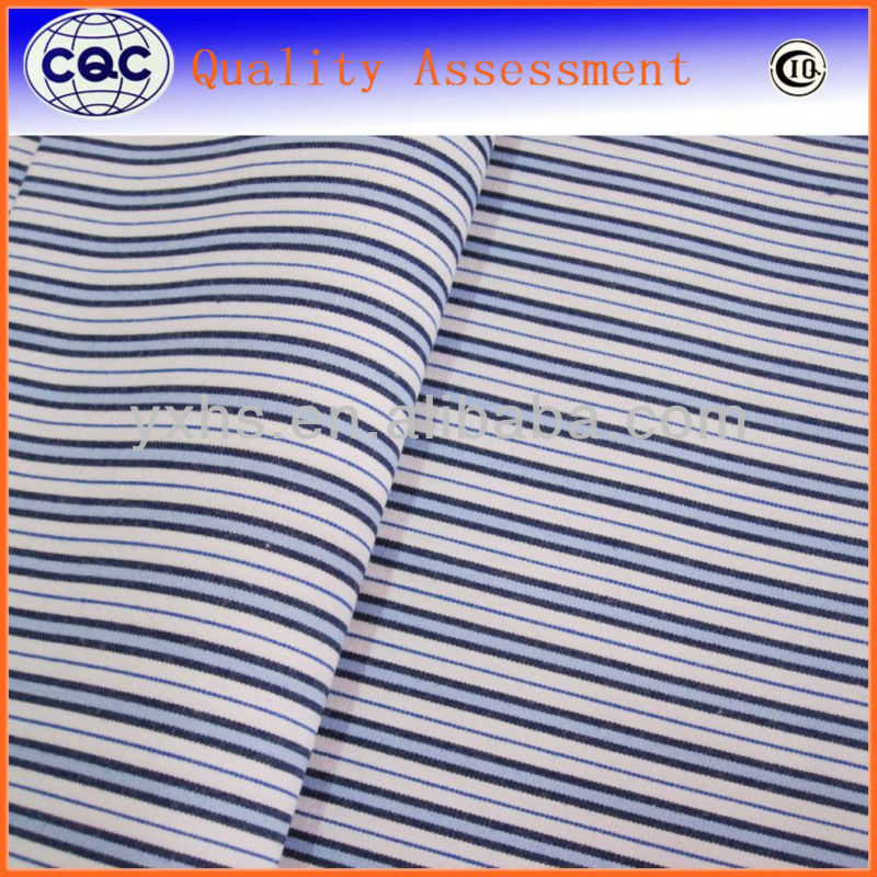 Chinese style 100% yarn dyed blue and black stripe fabric