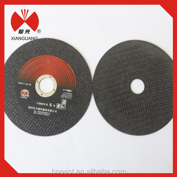 Synthetic resin bond abrasive cast iron cutting wheel
