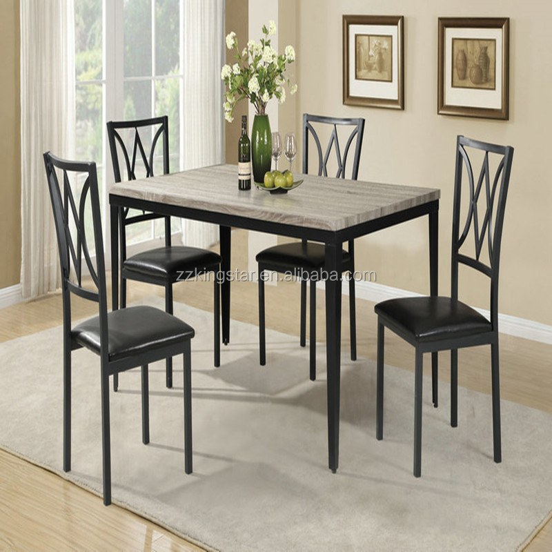 Popular heavy-duty Wooden dining Table and Chairs