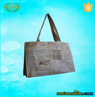 eco promotional laminated pp woven shopping bag