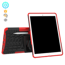 logo printing 8 color pc tpu anti shock kickstand protective case for ipad pro 10.5 inch cover case