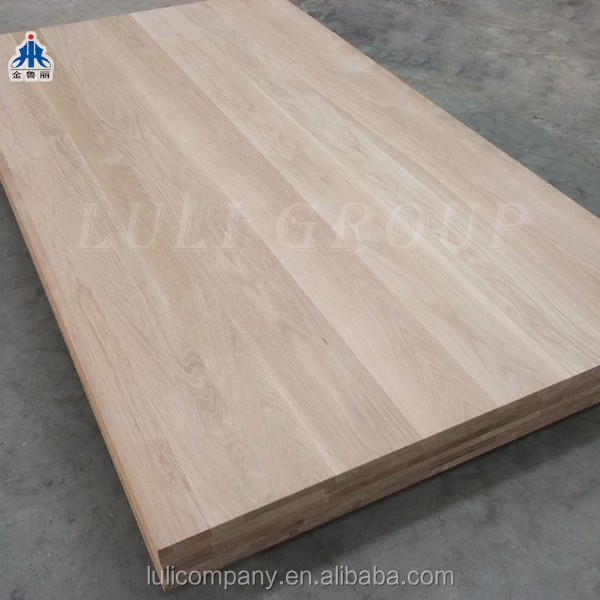 hot sale white oak finger joint board for furniture from manufacturer LuLi group