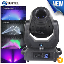 High brightness 8 facet spotdj 5r 200w spot led moving head light dmx used