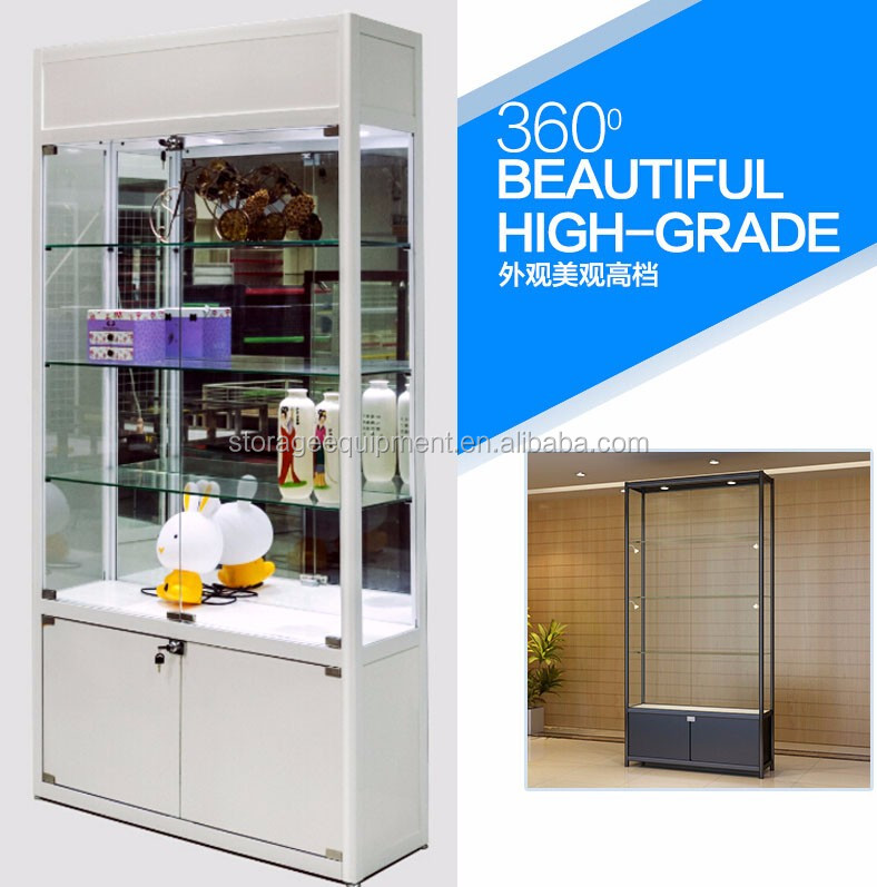 2017 Modern design Countertop glass Display Case for jewelry shop