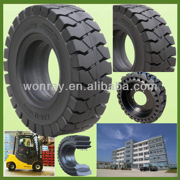 pneus pleins 5.00-8, forklift solid tyres, SGS and ISO:9001