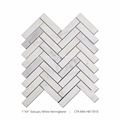 25''*98'' Polished Mixed Coloes Modern White Herringbone Marble Mosaic For Wall And Floor