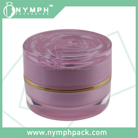 2015 new miss rose cosmetics containers,cosmetic jar,