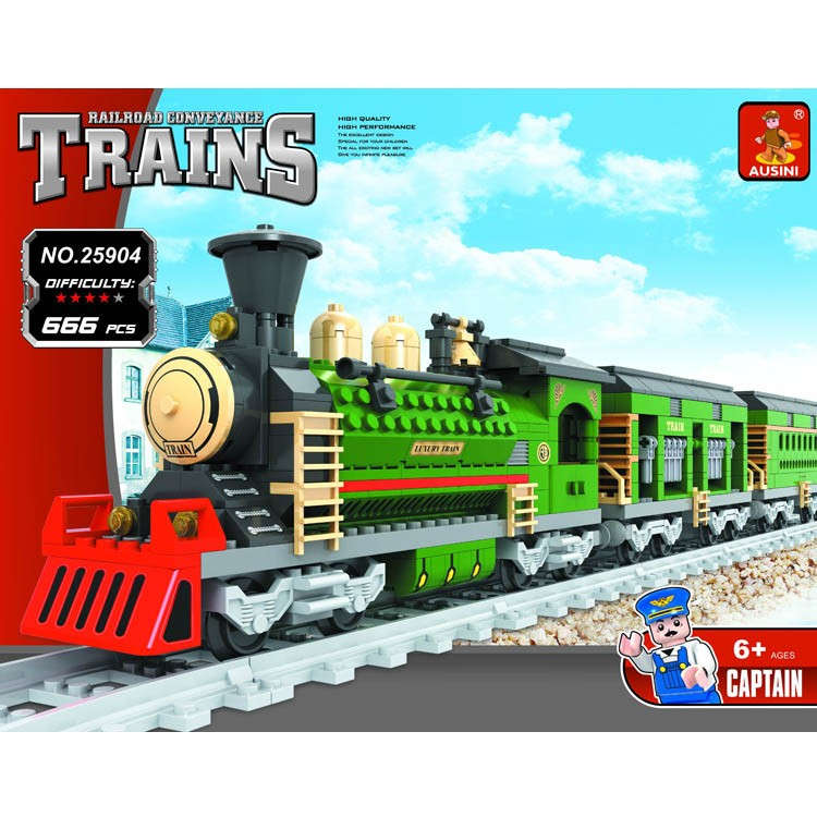 Cheap novelty fun kids plastic enlighten train construction building blocks toys