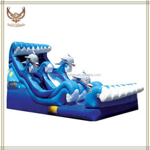 Good Quality Giant Dolphin Inflatable Water Slide For Kids,Sea Animal Water Slide