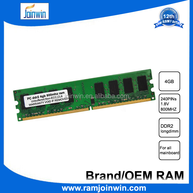 HongKong prize FCC CE ROHS tested desktop 4gb ddr2 module