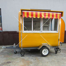 Optional Mobile vending carts/snack machine mobile restaurants with Light Red