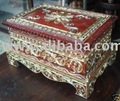ANTIQUE DESIGN SQUARE BOX AND JEWELRY BOX