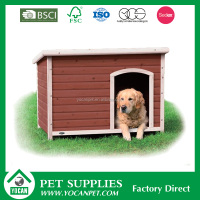 Home Fast supplier Chinese fir painted wooden dog kennel