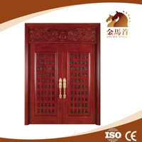 Solid Wood Door Material and Swing Open Style 100% oak solid wooden doors