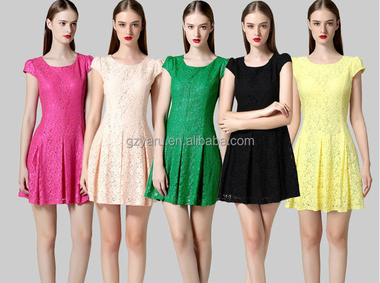 high quality women lace dress manufacture