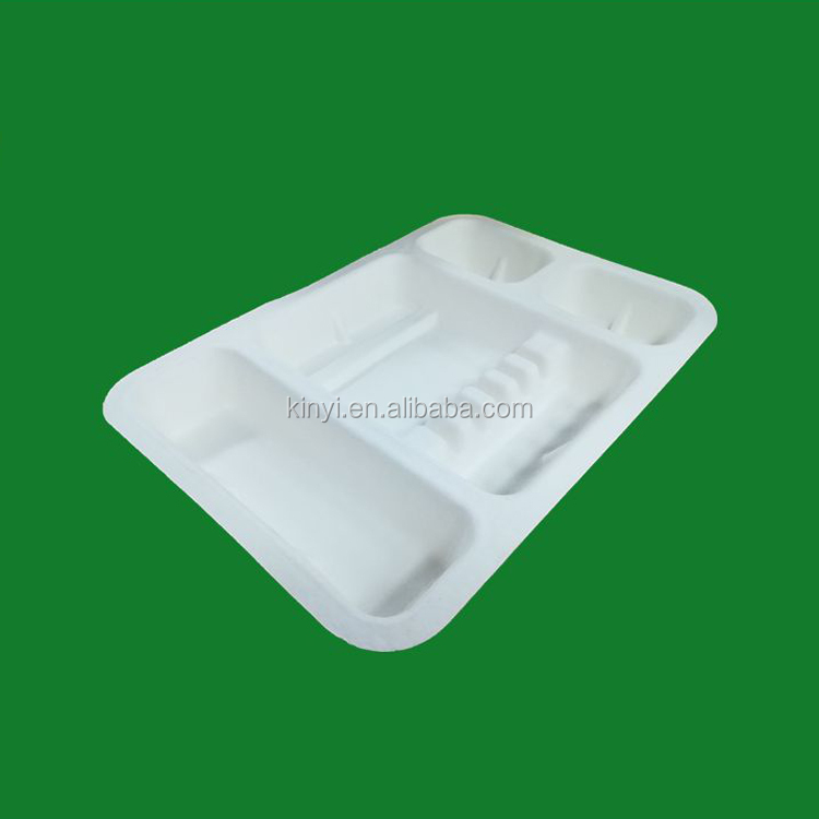 Biodegradable paper pulp molded electronic box,reclaimed tray packaging